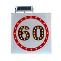 Panneaux de signalisation de sécurité routière Panneau de signalisation à LED solaire