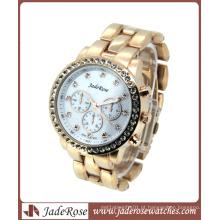 Rosegold Classic Alloy Waterproof Watch para presente