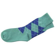 Männer Frauen Strumpf Plain Kleid Socken mit Baumwolle (fps-01)