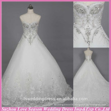WD6020 Quality fabric heavy handmade export quality rhinestone wedding factory crystal alibaba wedding dress