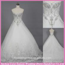 WD6020 Qualidade tecido pesado feito à mão exportação de qualidade rhinestone casamento fábrica de cristal vestido de casamento alibaba