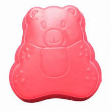 Silicone Cake Mold, Little Bear Shape, Non-stick, Durable, Various Colors are Available