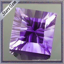 Midium Amethyst Square Shape Millennium Cut Gemstone