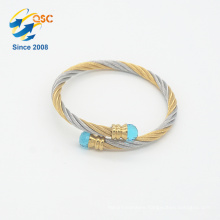 Rhodium plating bulk custom handmade stainless steel friendship bracelet