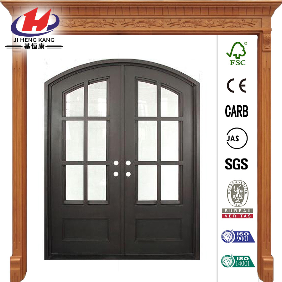 Craftsman Classic Decorative Wrought Iron Prehung Front Door
