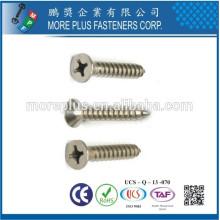 Taiwan M2.7x7 SUS304 Nickel Plated Flachkopf Phillips Drive Selbstschneiden Schraube