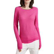 17PKCS505 2017 knit wool cashmere knitted lady sweater