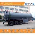 3 axles vacuum tank transport semi trailer