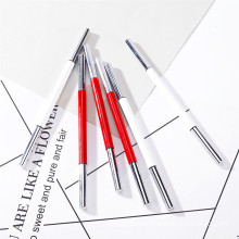 Wholesale High Quality 2 In 1 OEM&ODM Metal Shell Eyebrow Pencil Private Label Custom Waterproof 2 Colors Tube Eyebrow Pencil
