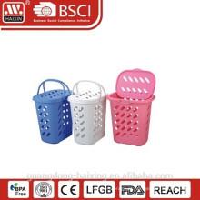 Cesta de lavanderia plástica com tampa e handle(47L)
