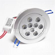 9w llevó techo abajo luz 12v 220v 110v 100-240v luz fabricante