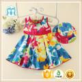 Caliente al por mayor estilo coreano chica impresa vestido dulce niño vestido ocasional Pretty Little Girls ropa para bebés