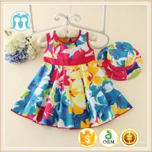 Chaude En Gros Style Coréen Fille imprimé Robe Doux Enfant Robe Occasionnelle Jolie Petite Filles Vêtements Pour Les Nourrissons