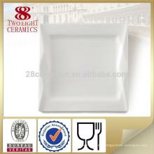Juego de mesa barata OEM, tapas blancas sencillas de porcelana que sirven platos