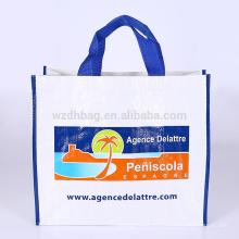 Bolso tejido del bolso de totalizador de las compras del bolso del polipropileno laminado promocional de Eco para el supermercado