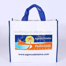 O polipropileno laminado relativo à promoção de Eco pagou o mantimento tecido da sacola da compra do saco para o supermercado