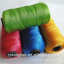 Cordón de nylon con mejores ventas del guipur sintético de la guita del guipur del embalaje del polipropileno