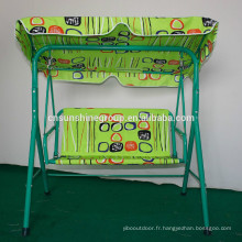Garden swing Chair,3 seats Balcony swing chair with colorful cushion,Outdoor Color cotton swing chair XY-174
