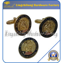 Customed Masonic Logo Metal Gold Cufflink