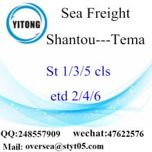 Consolidation de LCL de Shantou Port à Tema
