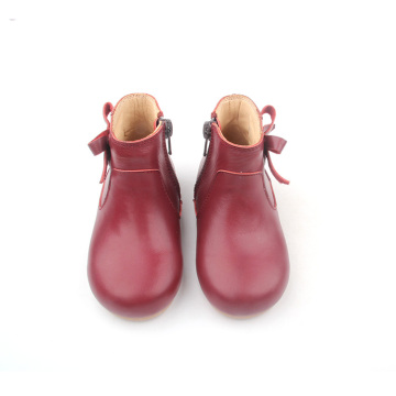 Christmas Cherry Red Leather Kinderlaarzen