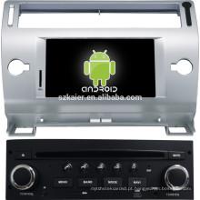HOT! Tela sensível ao toque do carro Android player multimídia para Citroen OLD C-QUATRE / C4 (cinza e preto)