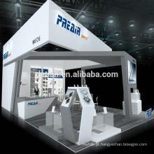 A oferta de Detian projetou o carrinho da mostra de comércio 20x30 do projeto da cabine da exposição
