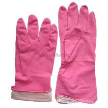 NMSAFETY spray flockline rosa pó livre luvas de borracha de cozinha