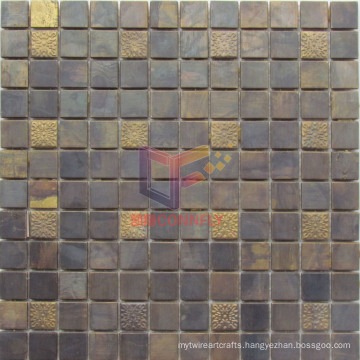 Antique Style Copper Material Mosaic Tile (CFM934)