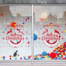 Счастливого Рождества и счастливого Нового Года ПВХ окна наклейки стикер стены Винилах