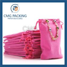 Various Colors Custom Printed Drawstring Velvet Jewelry Bag (CMG-Velvet bag-005)