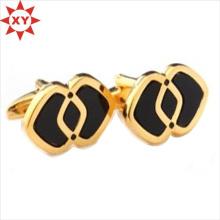 Boutons de manchette en or rose de logo de conception chaude de vente chaude pour des garçons