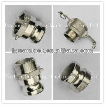 Quick acting coupling for fertilizers
