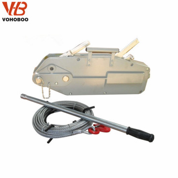Hand pulling wire rope winch manual cable hoist 0.8-5.4ton from china seller