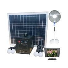 60w solar led lighting system with fan