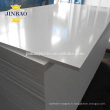 JINBAO 18mm épais pvc meubles matières premières mousse feuille prix