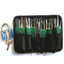 Stainless steel lock pick set