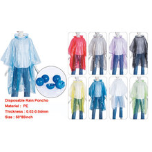 disposable cheap ball style rain poncho