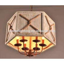 Handmade ceiling Lamp rope Lamp Holders,Hanging Rope Restaurant Room Lamp led pendant light led chandelier