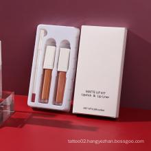 Premium 3 In 1 OEM Lipstick Lips Makeup Vendor Matte Liquid Lipstick Private Label Lip Kits Lipstick Set