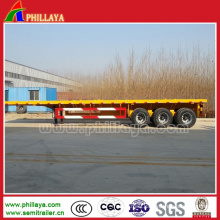 3 Axles German Suspension Flatbed Container Trailer