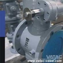 Литой углеродистый стальной A216 Wcb Полный сочлененный рукавный пробковый клапан