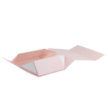 Pink Foldable Magnetic Gift Packaging Box