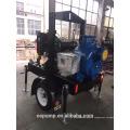 Self-priming theory irrigation diesel water pump with trailer