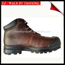 Sapatos de segurança em couro revestidos em pó com botas DESMA de dedo do pé de aço