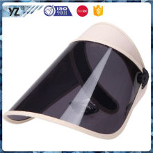 Latest arrival high safety pvc/pu sun visor caps 2016