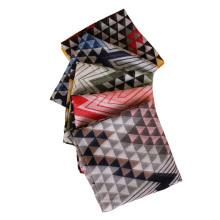 Moda imprimir asteca cor de linho de algodão longo mulheres hijab xale cachecol