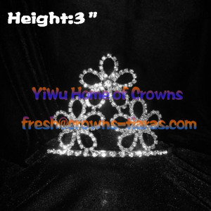 3inch Flower Crystal Tiaras Crowns