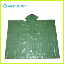 Poncho de chuva de PE descartável claro barato