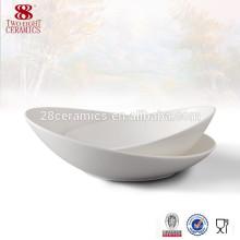 Дешевые белые керамические уникальный неглубокие салатницы овальные чаши